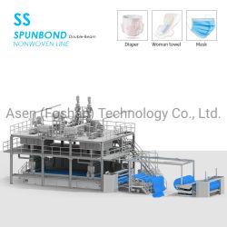 Gesponnenes Gewebe SS-2400mm pp. Spunbonded nicht, das Maschine und Meltblown Maschine für Baby-und Erwachsen-Windel herstellt
