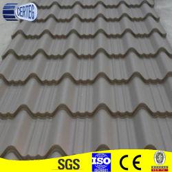 Color gris de Tejas de acero corrugado