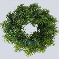 Kunstmatige Kroon 25cm van Kerstmis PE de Kunstmatige Installatie van de Ring van de Pijnboom voor de Decoratie & de Gift van de Vakantie (32264)