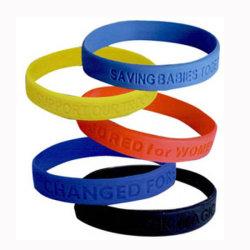 O OEM Multicolor Debossed bracelete de silicone para presente de promoção
