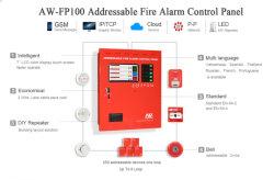 Беспроводной адресуемой системы пожарной сигнализации с сенсорным экраном быстро включите систему