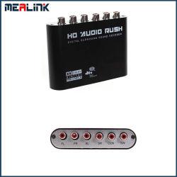 Canal fibre optique 6 RCA Décodeur audio numérique