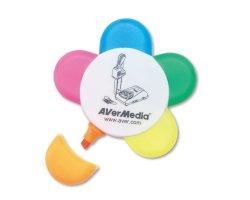 Forma de Flor de promoción Non-Toxic marcador puede ser Logotipo personalizado