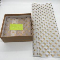 관례에 의하여 인쇄되는 상표 로고 17GSM 조직 선물 단화 포장지