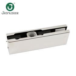 Frameless porte en verre Fittins patch correctif de pivot de raccords de la porte supérieure