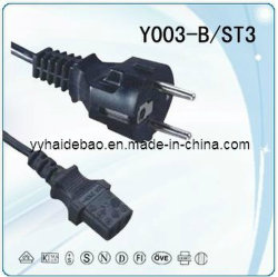 Европейский шнур питания/ Европейского удлинители/Европейского кабели питания Y003-B/st3 VDE (Y003-B/ST3)