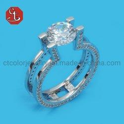 925 Joyería de Plata anillos de diamantes Vaciar Anillo de Boda Joyas