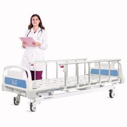 A3K Metal 3 MANIVELA ajustável de 3 Funções com rodízios de Clínica Médica Manual de dobragem cama hospitalar de Enfermagem do paciente