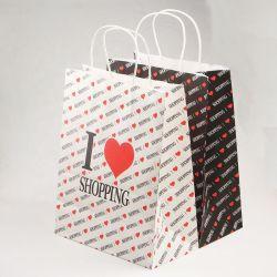 Logotipo personalizáveis populares saco de papel Kraft para utilizados para embalar diversos produtos da indústria