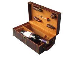 Caixa de madeira para garrafas de duplo D06-008)