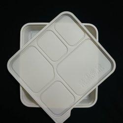 Извлеките разлагаемые PLA белый Обед Обед в салоне с высокой емкостью.