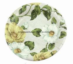 Impressão personalizada grossista descartáveis pratos de papel