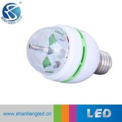 다채로운 LED 자전 전구 3W RGB LED 수정같은 마술 공 빛