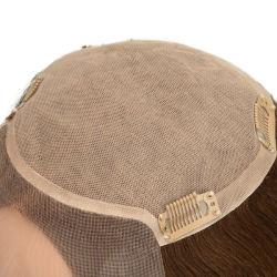 На складе монгольской Реми волосы моно кружева передней верхней части шелка украшение для волос для женщин новые времена волос