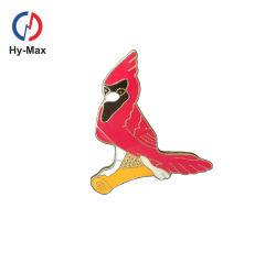 Il Brooch raccoglibile del fiore del regalo di compleanno dell'uccello sveglio su ordinazione del metallo del campione libero Badges il Pin dello smalto del risvolto
