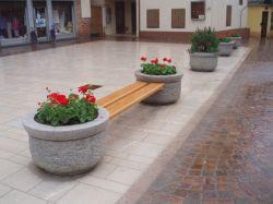 Pedra natural esculpida em granito Garden Flower Pot para jardim/escultura de pedra