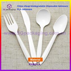 China Goedkope biologisch afbreekbare wegwerpbare serviesgoed PLA-serviesgoed
