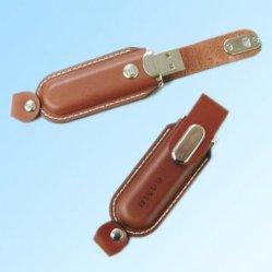 OEM de Aandrijving van de Flits van het Leer USB (om-L802)