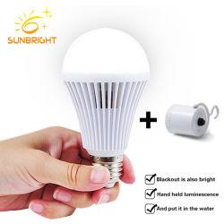 Commerce de gros de 12 V rechargeable Lampe LED de batterie intelligent d'urgence