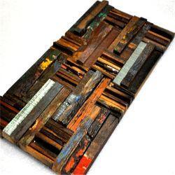 Внутренних Дел Старые лодки деревянной мозаики с культурой камень дизайн