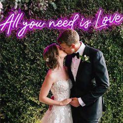 Conception sans OEM tous vous avez besoin est l'amour mariage néon LED personnalisé enseigne au néon