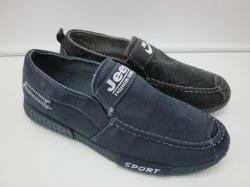 Nuevo diseño de suela de PVC tejido Denim Loafer Zapatos de lona