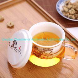 Venda por grosso de vidro borossilicato de alta xícara de chá Chá Cerâmica Infuser caneca com Filtro do Filtrador