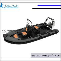 Steife aufblasbare Aluminiumfischerboote, Aluminiumfischerboot und Rippen-Boot mit Motor