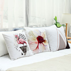 A impressão digital Flower Flamingo deite capa do assento Sofá capa do assento