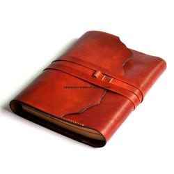 Un cadeau d'affaires rechargeables5 écrit le bloc-notes en cuir véritable livre de journal