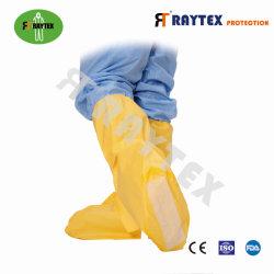 52301 marca Raychem Nonskid único de protecção de SMS de PP Boot Tampa da Sapata laminada de altura da tampa de porta-bagagens calor costuras seladas com fita elástica abertura superior