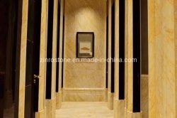 プロジェクトのための磨かれた石造りの黄色かGolddenのくものヒスイの大理石の平板またはタイル