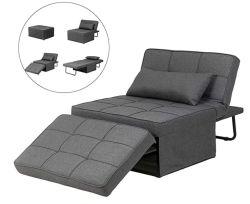 Sofá desdobrável comentários de cama, 4 em 1 Banco Lanlinco Ajustável Multifuncional Comentários Sofá Cadeira Sofá-Cama (cinzento escuro)
