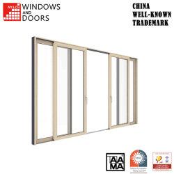 Personnalisable en bois de haute qualité en aluminium/aluminium/PVC en alliage de bois d'entrée/vitrage en verre trempé/Bifold porte fenêtre coulissante pour la construction