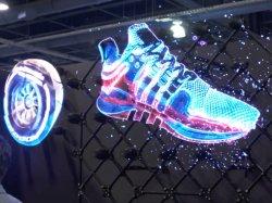 Nuevo holográfica en 3D LED FAN Publicidad reproductor para el logotipo de la tienda