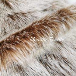 Pelliccia 100% di falsificazione della pelliccia di Fox del Faux del poliestere per il collare per moquette