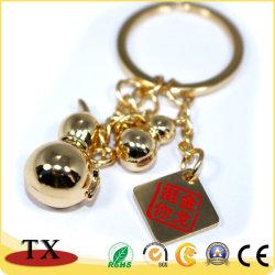 金張りのキーのホールダーおよびキーホルダーが付いている最もよい販売の金属亜鉛合金