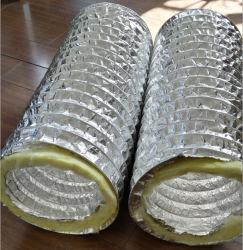 El aislamiento de fibra de vidrio flexible de aluminio de conducto para el sistema HVAC
