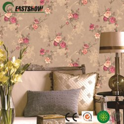 3D el patrón de flor en relieve el papel tapiz de PVC de 1,06m para el hogar