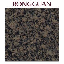 La couleur noire grande dalle de marbre artificiel pour la vanité de quartz haut de page