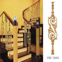 Da liga de alumínio européia do magnésio do aço inoxidável coluna luxuosa do Guardrail da escadaria