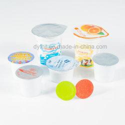 8011 et en alliage aluminium imprimé joint de couvercle de la chaleur de yaourt tasse en plastique
