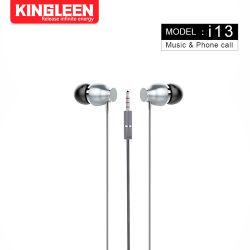 سماعة أذن سلكية داخل الأذن مع سماعات أذن ميكروفون أذن استريو صوت 3,5 مم جهاز iPhone iPad iPod Samsung Galaxy
