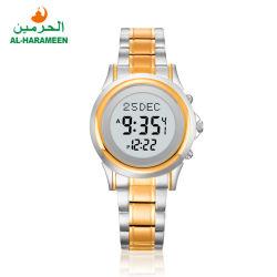 Moslemische Azan Uhr Ha-6381 Al-Harameen Edelstahl-Brücke-Digital-für Frau Ha-6382 für Mann