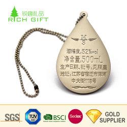Gebildet in China-kundenspezifisches Metallchrom-Schwarz-Nickel überzogenem Laser graviertem Firmenzeichen-Marken-Hund für M?nner