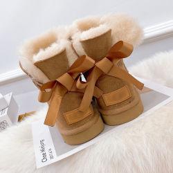 أزياء كلاسيكية، شمع، شمع، شمع، أحذية النساء في الشتاء مصمم الجلد أحذية