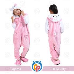 Hot Sale Hello Kitty Super Doux de flanelle Pyjama enfant