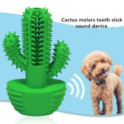 2020의 청결한 이 튼튼한 건강한 개 칫솔 장난감을 무는 도매 새로운 애완 동물 제품 선인장 어금니 지팡이