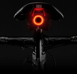 Rem die van de Fiets van Rockbros de Slimme Auto Lichte Ipx6 Waterdichte het LEIDENE het Laden Cirkelen de Fiets van het Achterlicht Achter ontdekken Lichte Toebehoren Q5