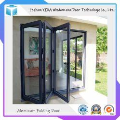 2019 горячая продажа двойной закаленного стекла алюминиевые складные двери с заводская цена